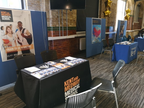 KMMS information stand at Open Day event