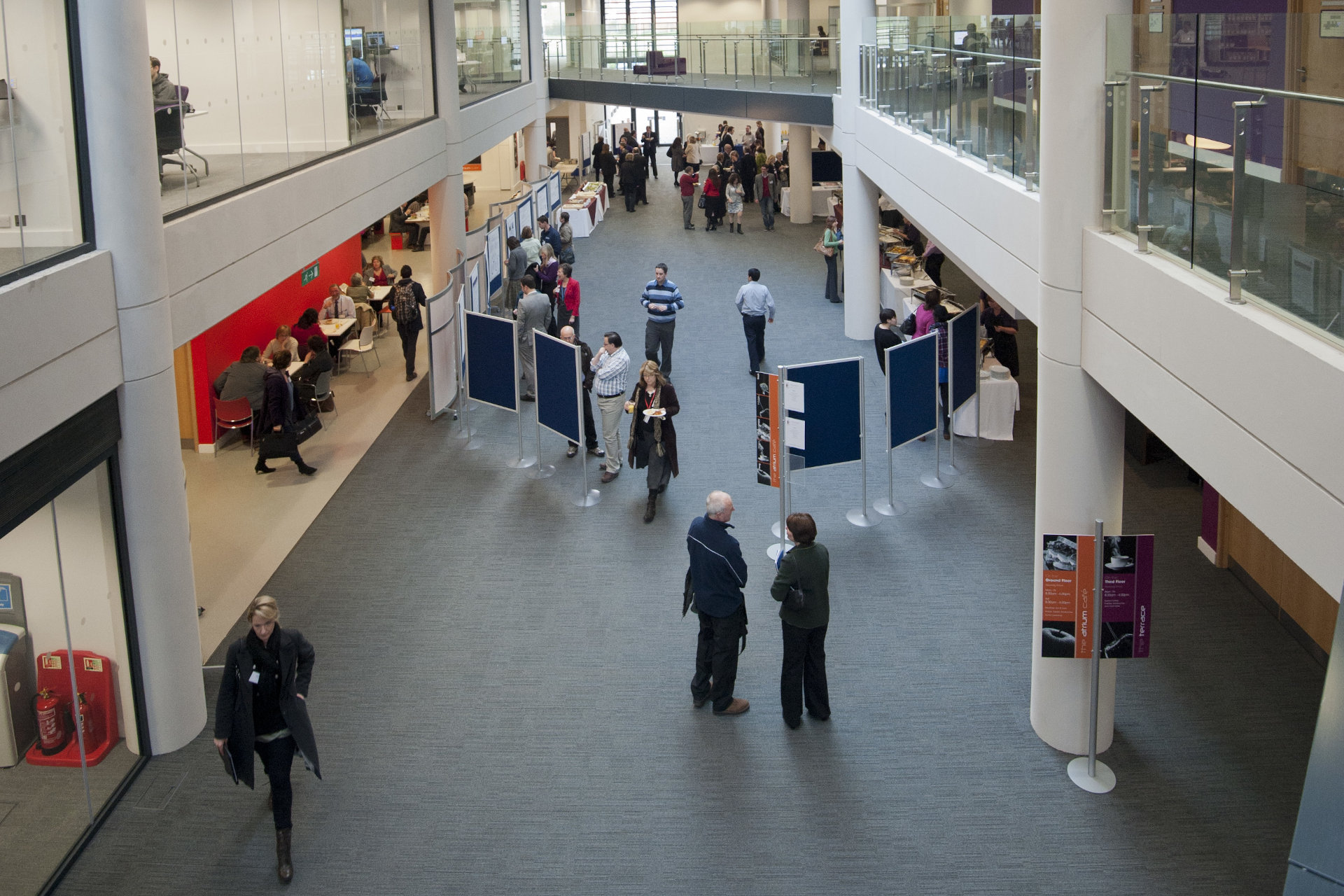 Photo of people in foyer in Augustine House, CCCU