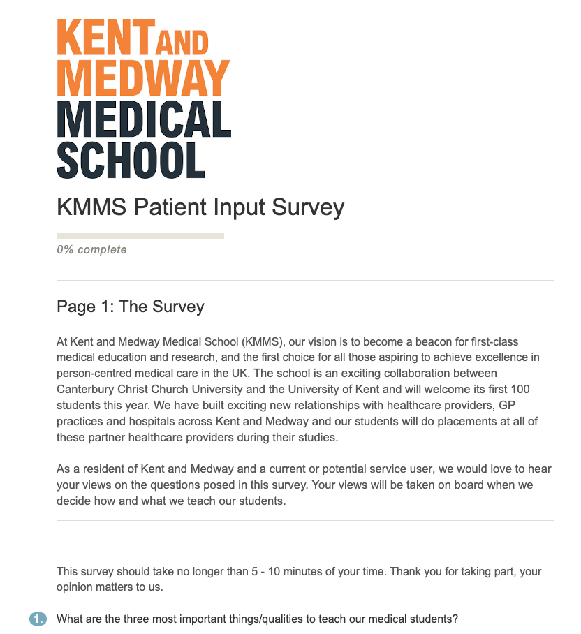 KMMS Patient Input Survey